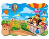 Puzzle W latającym balonie - PUZZLE DLA DZIECI