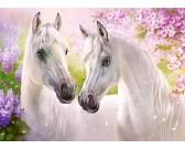 Puzzle Romantyczny widok z końmi - PUZZLE DLA DZIECI