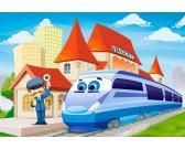 Puzzle Dworzec - MAXI PUZZLE