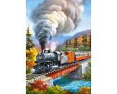 Puzzle Pociąg na moście