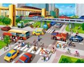 Puzzle Miejski pośpiech - PUZZLE DLA DZIECI