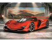 Puzzle Czerwony samochód w hangarze - PUZZLE DLA DZIECI