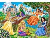 Puzzle Księżniczki w ogrodzie - PUZZLE DLA DZIECI