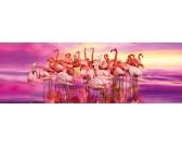 Puzzle Flamingi - PUZZLE PANORAMICZNE