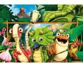 Puzzle Wesołe dinozaury - PUZZLE DLA DZIECI