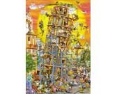 Puzzle Budowa Krzywej wieży