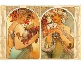 Puzzle Owoce i kwiaty