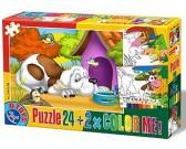 Puzzle Piesek przy budzie - PUZZLE DLA DZIECI