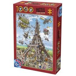 Puzzle Budowa Wieży Eiffla