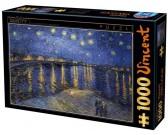 Puzzle Gwieździsta noc nad rzeką