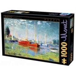 Puzzle Czerwone łodzie