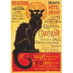 Puzzle Plakat - czarny kot