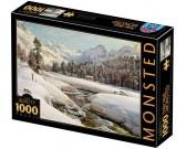 Puzzle Zimowy krajobraz w Szwajcarii