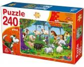 Puzzle Zabawa na farmie - PUZZLE DLA DZIECI