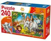 Puzzle Zwierzęta z dżungli - PUZZLE DLA DZIECI