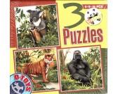 Puzzle Koala, tygrys, goryl - PUZZLE DLA DZIECI