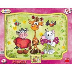 Puzzle Śmieszne zwierzątka - PUZZLE DLA DZICI