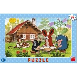 Puzzle Krecik z wizytą - PUZZLE DLA DZIECI