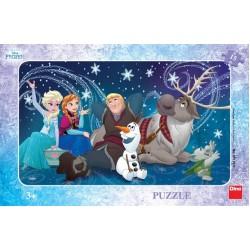 Puzzle Kraina lodu - śnieżynka - PUZZLE DLA DZIECI