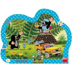 Puzzle Krecik z żółtym autkiem - PUZZLE DLA DZIECI
