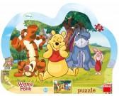 Puzzle Zabawa w chowanego z Kubusiem Puchatkiem - PUZZLE DLA DZIECI