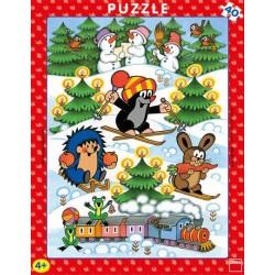 Puzzle Krecik na śniegu - PUZZLE DLA DZIECI