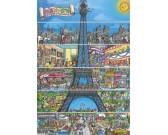 Puzzle Rysunkowa Wieża Eiffla