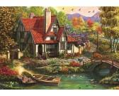 Puzzle Domek nad jeziorem