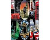 Puzzle Londyn - kolaż