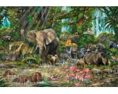 Puzzle Afrykańska dżungla