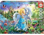 Puzzle Księżniczka i jednorożec