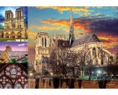Puzzle Notre Dame, kolaż