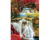 Puzzle Wodospad w gęstym lesie