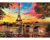 Puzzle Zachód słońca w Paryżu