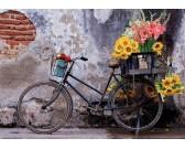 Puzzle Rower z kwiatami