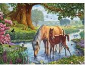 Puzzle Konie w potoku
