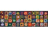 Puzzle Kolorowe kwadraty - PUZZLE PANORAMICZNE