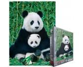 Puzzle Panda z młodym