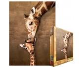 Puzzle Żyrafa z młodym