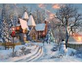 Puzzle Bożonarodzeniowa chatka