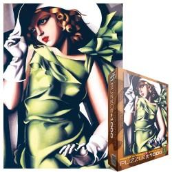 Puzzle Kobieta w zielonej sukni