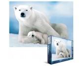 Puzzle Niedźwiedź polarny z młodym