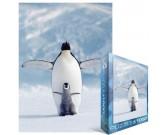 Puzzle Pingwin z młodym