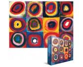 Puzzle Kwadraty z koncentrycznymi okręgami