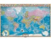 Puzzle Mapa świata z kręgami polarnymi