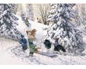 Puzzle Dzieci w śniegu