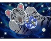 Puzzle Tygrys i kula ziemska