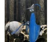 Puzzle Jeździec w niebieskim płaszczu