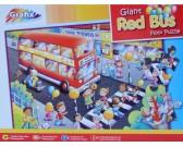 Puzzle Czerwony autobus - PUZZLE DLA DZIECI