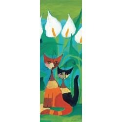 Puzzle Białe kwiaty - PUZZLE WERTYKALNE